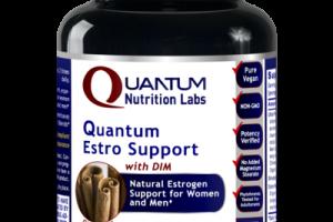QUANTUM ESTROGEN SUPPORT WITH DIM FOR WOMEN AND MEN DIETARY SUPPLEMENT VEGETARIAN CAPSULES, CINNAMON