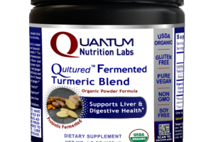 QULTURED PROBIOTIC FERMENTED TURMERIC BLEND DIETARY SUPPLEMENT ORGANIC POWDER FORMULA