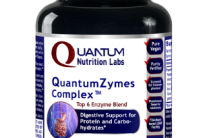 QUANTUM ZYMES COMPLEX TOP 6 ENZYME BLEND DIGESTIVE SUPPORT FOR PROTEIN AND CARBOHYDRATES DIETARY SUPPLEMENT VEGETARIAN CAPSULES