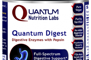 QUANTUM DIGESTIVE ENZYMES WITH PEPSIN A DIETARY SUPPLEMENT VEGETARIAN CAPSULES