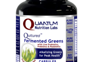 QULTURED FERMENTED GREENS WITH LIVE PROBIOTICS, PREBIOTICS & POSTBIOTICS DIETARY SUPPLEMENT PLANT-SOURCE CAPSULES, PROBIOTIC FERMENTED