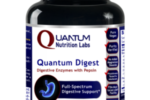 QUANTUM DIGESTIVE ENZYMES WITH PEPSIN FULL-SPECTRUM DIGESTIVE SUPPORT DIETARY SUPPLEMENT VEGETARIAN CAPSULES