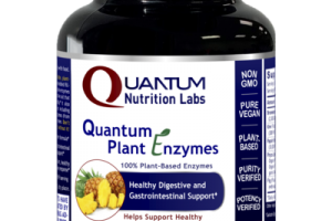 QUANTUM 100% PLANT-BASED ENZYMES HEALTHY INFLAMMATORY RESPONSE DIGESTIVE AND GASTROINTESTINAL SUPPORT DIETARY SUPPLEMENT PLANT-SOURCE CAPSULES