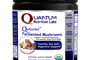 QULTURED FERMENTED MUSHROOMS ORGANIC, FERMENTED WITH ACEROLA, GREEN TEA & GINGER HEALTHY GUT AND DIGESTIVE SUPPORT DIETARY SUPPLEMENT, PROBIOTIC FERMENTED