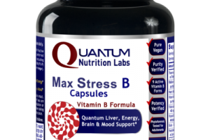 MAX STRESS B CAPSULES VITAMIN B FORMULA QUANTUM LIVER, ENERGY, BRAIN & MOOD SUPPORT DIETARY SUPPLEMENT VEGETARIAN CAPSULES