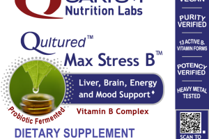 QULTURED MAX STRESS B LIVER, BRAIN, ENERGY AND MOOD SUPPORT VITAMIN B COMPLEX DIETARY SUPPLEMENT