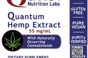 QUANTUM HEMP EXTRACT 55 MG/ML WITH NATURALLY OCCURRING CANNABINOIDS DIETARY SUPPLEMENT