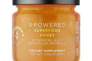 B-POWERED WITH ROYAL JELLY, BEE POLLEN, PROPOLIS DIETARY SUPPLEMENT SUPERFOOD HONEY