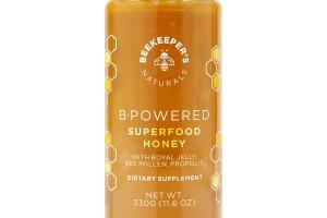B POWERED SUPERFOOD HONEY WITH ROYAL JELLY, BEE POLLEN, PROPOLIS DIETARY SUPPLEMENT