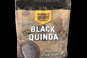 ORGANIC PREMIUM WHOLE GRAIN BLACK QUINOA