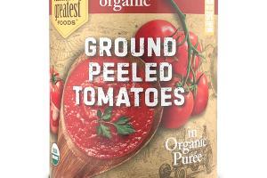 ORGANIC GROUND PEELED TOMATOES IN ORGANIC PUREE