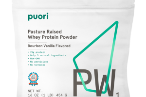 BOURBON VANILLA FLAVORED PW1 PASTURE RAISED WHEY PROTEIN POWDER