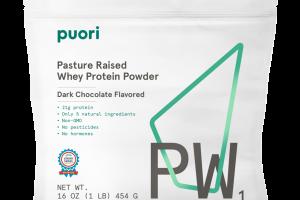DARK CHOCOLATE FLAVORED PW1 PASTURE RAISED WHEY PROTEIN POWDER