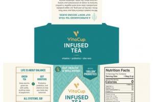 GREEN TEA PROBIOTIC BLEND INFUSED TEA BIODEGRADABLE FILTER BAGS