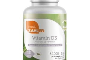 ADVANCED VITAMIN D3 FORMULA SUPPORTS HEALTHY BONES AND IMMUNE SYSTEM DIETARY SUPPLEMENT CAPSULES