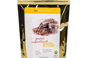 PURE UNSWEETENED CAROB CHIPS BAKING BUTTONS